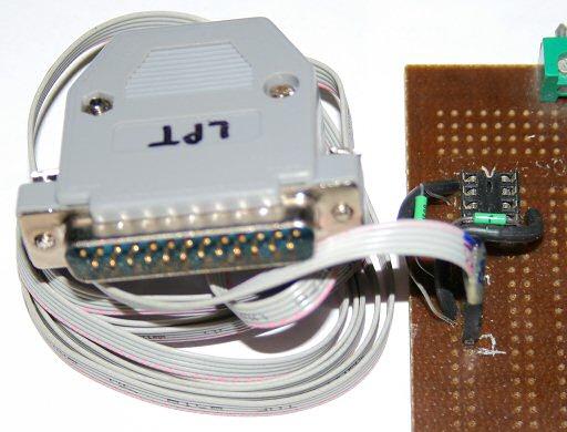 RayeR's homepage/Programátor SPI FlashROM na paralelní port